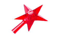 Christmas red star Stock Photos