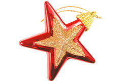Christmas red star over white Royalty Free Stock Images