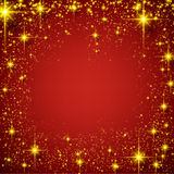 Christmas red starry background. Royalty Free Stock Photo