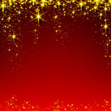 Christmas red starry background. Stock Photo