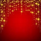 Christmas red starry background Royalty Free Stock Images