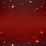 Christmas red starry background. Royalty Free Stock Images