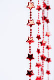 Christmas red stars border Stock Photos