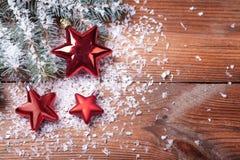 Christmas red stars Stock Photo