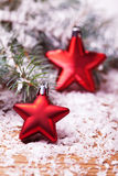 Christmas red stars Royalty Free Stock Images
