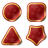Christmas red stickers Stock Photo