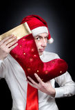 Christmas red stocking Stock Images