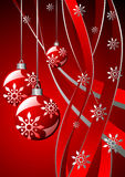Christmas red template Stock Images