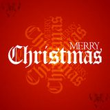 Christmas decorative text on textured red background Stock Photos