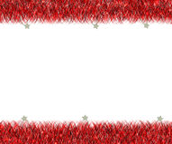 Christmas red tinsel frame Royalty Free Stock Photography