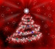 Christmas red tree . Royalty Free Stock Photography