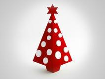 Christmas red tree Stock Photo