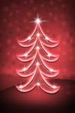 christmas red tree Στοκ Εικόνες