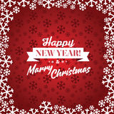 Christmas red vector background. Stock Photography