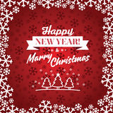 Christmas red vector background. Card or invitation. Stock Photo