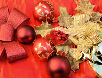 Christmas in red. Vivid hue for the celebration of these feasts Stock Images