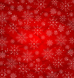 Christmas red wallpaper, snowflakes texture Stock Image