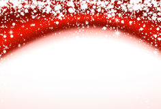 Christmas red wavy background with stars. Stock Photography