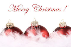 Christmas of red and white Royalty Free Stock Images