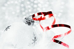 Christmas in red and white Stock Images