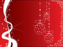 Christmas red and white background Stock Photography