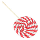 Christmas red and white candy 3d rendering. Isolated on white background Royalty Free Stock Photography