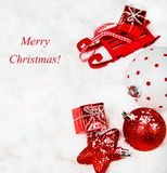 Christmas red and white decoration Stock Photography