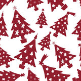 Christmas red and white tree decoration seamless pattern eps10 Royalty Free Stock Image