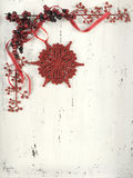 Christmas red and white vintage wood background. Stock Photos