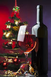 Christmas red wine Royalty Free Stock Photo