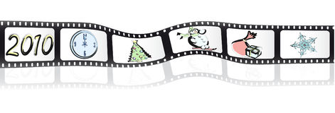 Christmas reel of film Stock Image