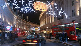 Christmas in Regent Street. London stock video