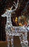 Christmas reindeer. Christmas Santa Claus' reindeer made of bright flashlights Stock Image