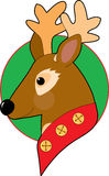 Christmas Reindeer. With bells on his collar Royalty Free Stock Image