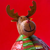 Christmas reindeer toy Royalty Free Stock Image