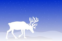 Christmas Reindeer. An illustration of a reindeer on a blue background Royalty Free Stock Photography