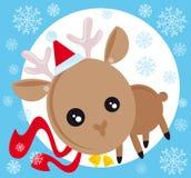 Christmas reindeer royalty free illustration