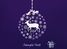 Christmas reindeer. Abstract Christmas background with a reindeer Stock Photography