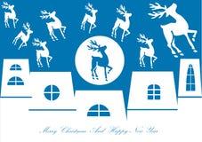 Christmas reindeer background Стоковое Изображение