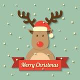Christmas reindeer background Стоковое Изображение RF