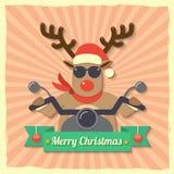 Christmas reindeer background Стоковое Фото