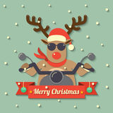 Christmas reindeer background Stock Photo