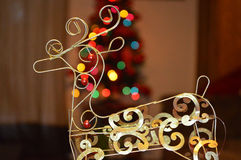 Christmas reindeer bokeh Stock Images