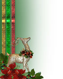 Christmas reindeer border Stock Photography