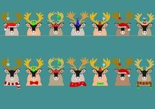 Christmas reindeer border Stock Photography