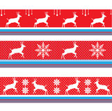 CHRISTMAS REINDEER BORDER VECTOR DECORATION RED Royalty Free Stock Photo