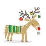 Christmas reindeer Stock Photo