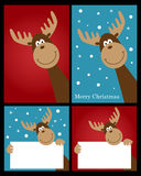 Christmas reindeer cards vector illustration