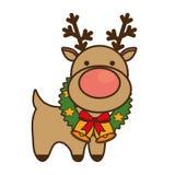 Christmas reindeer character isolated icon. Vector illustration design vector illustration