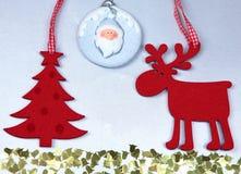 Christmas. Reindeer and Christmas tree isolate on. White stock photography